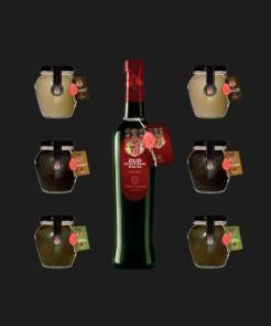 2 Crema Porcini con Tartufo, 2 Tartufata, 2 Crema Olive Verdi, 1 Olio Classico